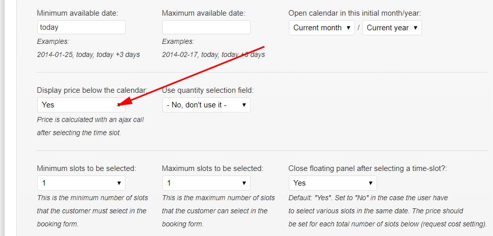 display price option