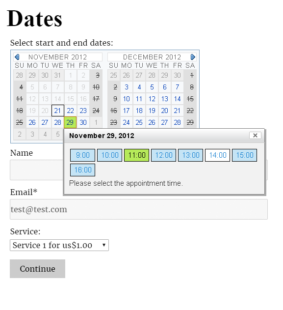 Documentation - Appointment Booking Calendar