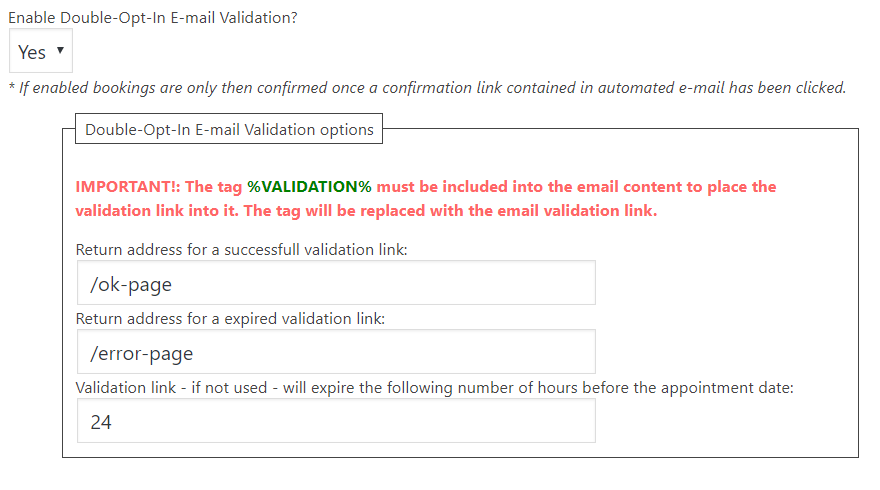 Double-Opt-In E-mail Validation